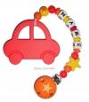 Beisskette mit Auto, Sternenperle und  Doppelstern
