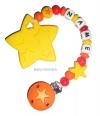 Beisskette mit Stern, Sternenperle und  Doppelstern